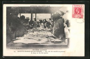 AK Sainte-Marie-de-Bathurst, Un coin de marché au poission