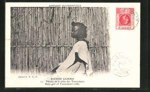 AK Gambie, Fillette de la tribu des Toucouleurs