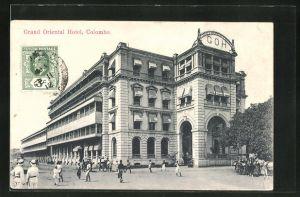 AK Colombo, Strassenansicht mit Grand Oriental Hotel