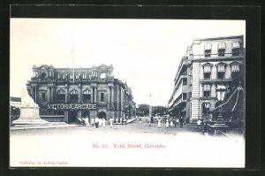 AK Colombo, York Street with Victoria Arcade