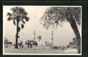 Foto-AK Kano, Blick zur Moschee