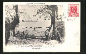 AK Sainte-Marie-de-Bathurst, Une Vue du Port