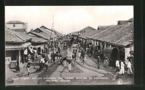AK Colombo, Main Street, Pettah showing the native Quarter of Commerce