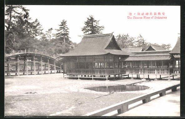 AK Itsukushima, The Famous Place of Itukusima, Gebäude der Schreinanlage