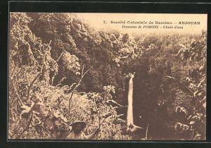 AK Anjouan, Societe Colonialde de Bambao, Domaine de Pomoni, Chute d'eau