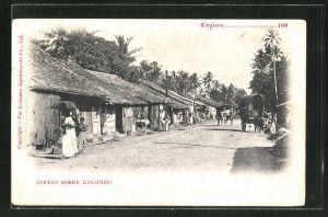 AK Colombo, Street scene, Strassenpartie