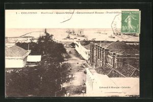 AK Colombo, Harbour, Queen Street, Government Hause, Post Office, Post