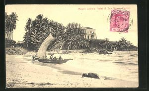 AK Kandy, Mount Lavinia Hotel & Sea Shore, Strand mit Boot