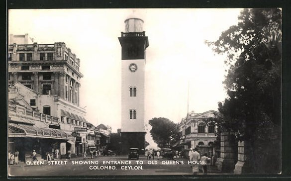AK Colombo, Queen Street, Showing entrance to Old Queen's House 0