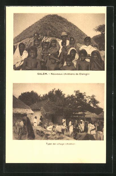 AK Salem, Nouveaux chretiens de Elanigire, Type de village chretien, christliches Dorf