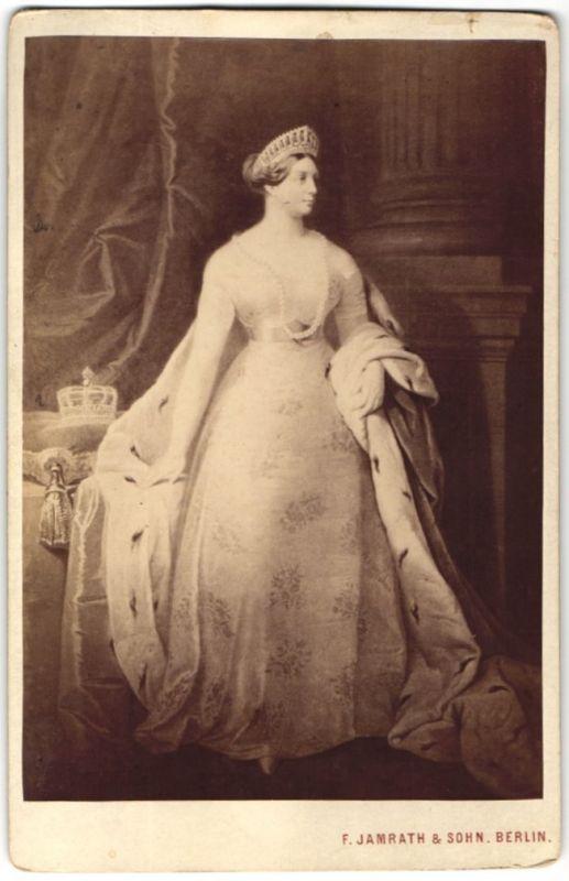 Fotografie Königin Luise von Preussen mit Diadem & Halskette