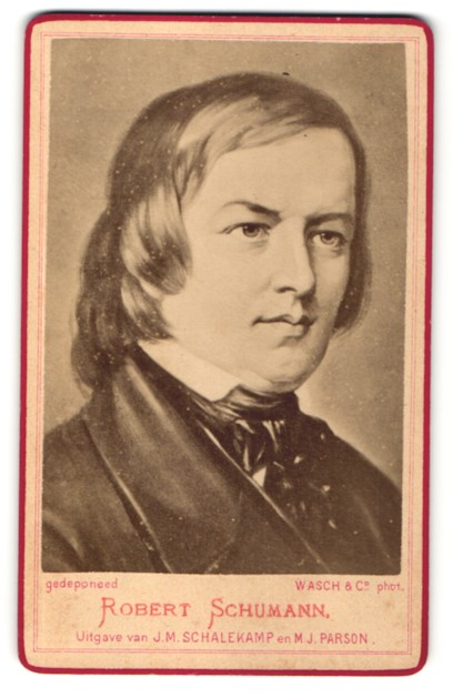 Fotografie Portrait Komponist Robert Schumann