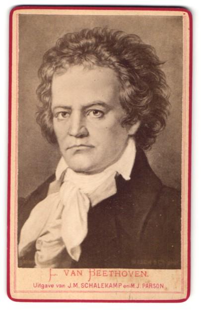 Fotografie Portrait Komponist Ludwig van Beethoven
