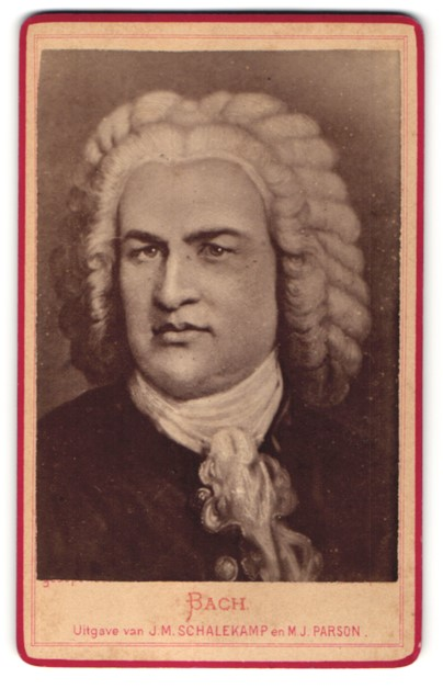 Fotografie Portrait Komponist Johann Sebastian Bach