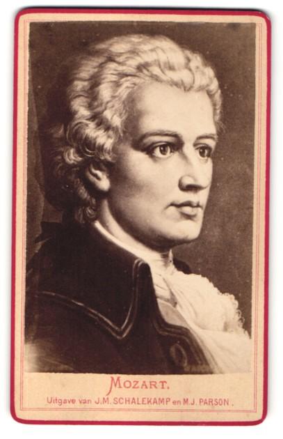 Fotografie Portrait Komponist Wolfgang Amadeus Mozart