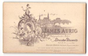 Fotografie James Aurig, Dresden-Blasewitz, Ansicht Dresden, Stadtansicht, rückseitig Portrait-Foto