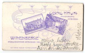 Fotografie Georg Haupt, Wittenberge, Ansicht Wittenberge, Foto-Atelier Perleberger Strasse 150