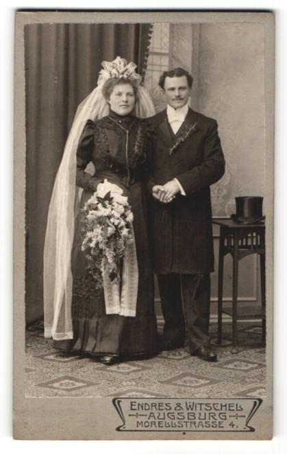 Fotografie Endres & Witschel, Augsburg, Portrait Braut und Bräutigam