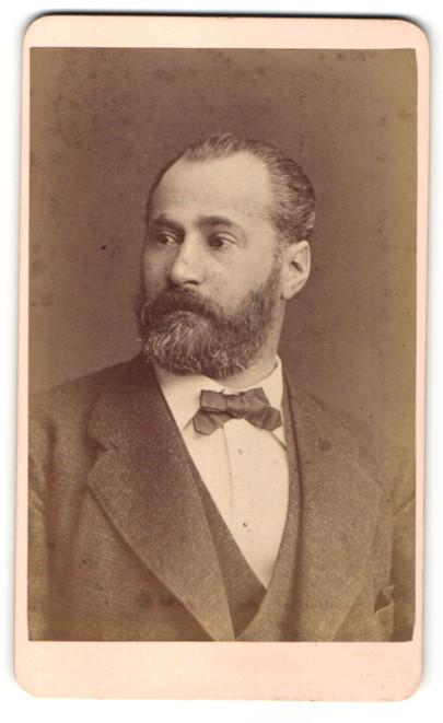 Fotografie Otto Reitmayer, München, Portrait Herr mit Bart