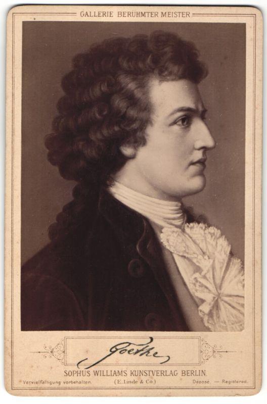 Fotografie Sophus Williams, Berlin, Portrait Johann Wolfgang von Goethe