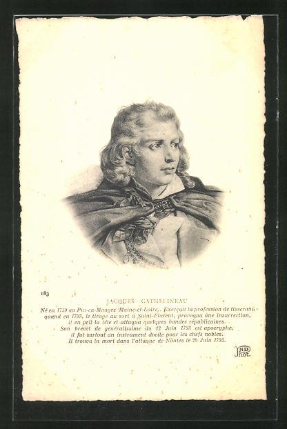 AK Portrait Jacques Cathelineau, 1759-1793, französische Revolution
