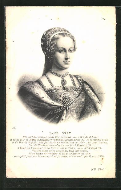 AK Jane Grey von England, Portrait