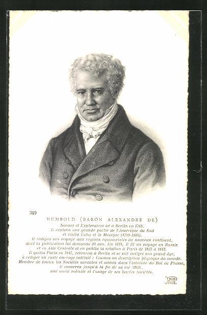 AK Portrait des Forschungsreisenden Alexander von Humboldt