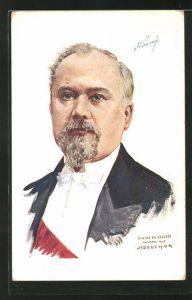 Künstler-AK Raymond Poincaré, Président de la République Francaise