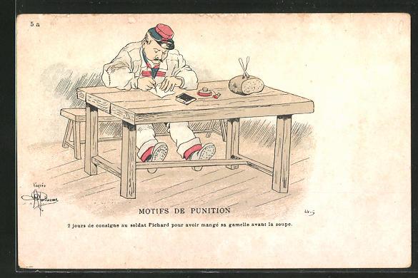 Künstler-AK Albert Guillaume: Mitifs de Punition