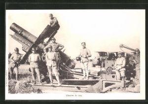 AK Obusier de 220, Artillerie
