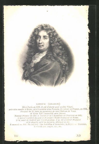 AK Portrait des französischen Malers Lebrun