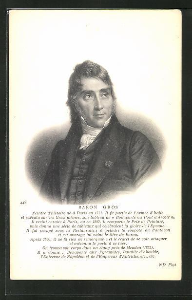 AK Portrait des französischen Malers Baron Gros
