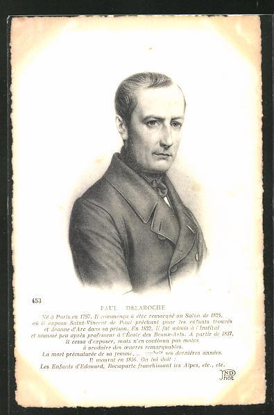 AK Portrait des französischen Malers Paul Delaroche