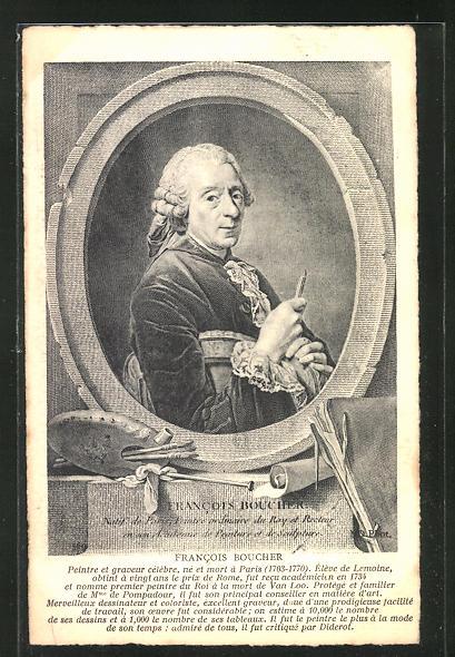 AK Portrait des französischen Malers Francois Boucher