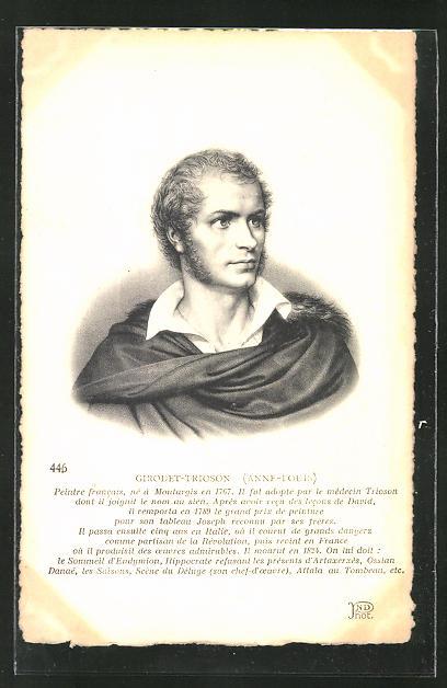 AK Portrait des französischen Malers Girodet-Trioson