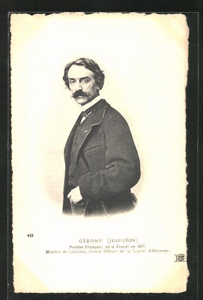 AK Portrait des französischen Malers Gérome