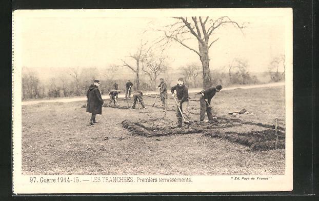 AK Soldaten graben einen Schützengraben
