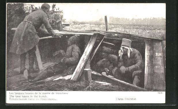AK Soldaten warten im Schützengraben
