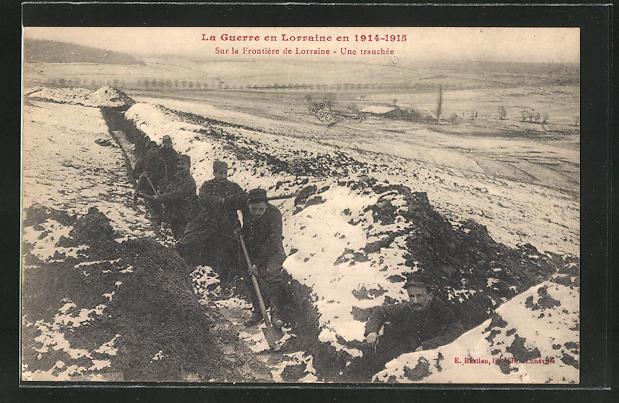 AK Lorraine, Soldaten heben einen Schützengraben aus