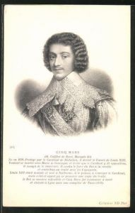 AK Cinq Mars (H. Coiffier de Ruzè, Marquis de) von Frankreich