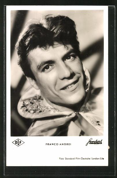 AK Schauspieler Franco Andrei im Kostüm einer Filmrolle