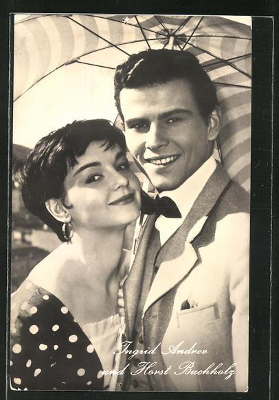 AK Schauspieler Ingrid Andree und Horst Buchholz in dem Film