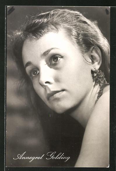 AK Schauspielerin Annegret Golding u.a. im Film