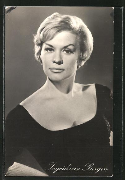 AK Schauspielerin Ingrid van Bergen spielte u.a. im Film