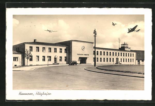 AK Hannover, Ansicht vom Flughafen
