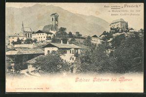 AK Meran, Blick auf Schloss Schönna