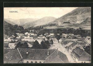 AK Tisovec, Blick über die Dächer der Ortschaft