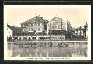 AK Wädenswil, Ansicht vom Hotel Engel am Zürichsee