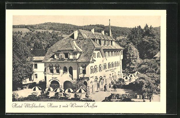AK Velden, Hotel Mösslacher mit Wiener Cafe