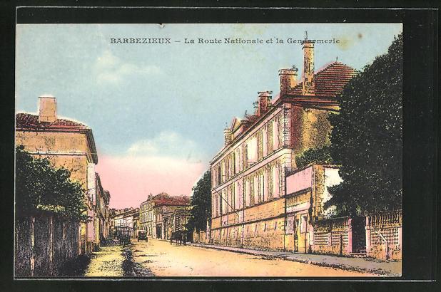 AK Barbezieux, La Route Nationale et la Gendarmerie
